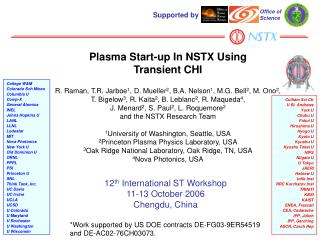 Plasma Start-up In NSTX Using  Transient CHI