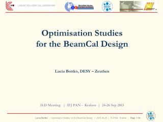 Optimisation  Studies  for the  BeamCal  Design Lucia  Bortko , DESY –  Zeuthen