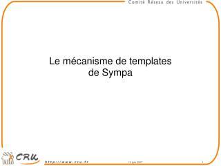 Le mécanisme de templates  de Sympa