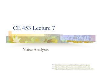 CE 453 Lecture 7
