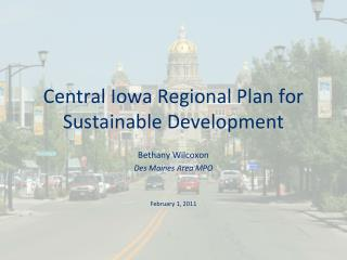 Central Iowa Regional Plan for Sustainable Development