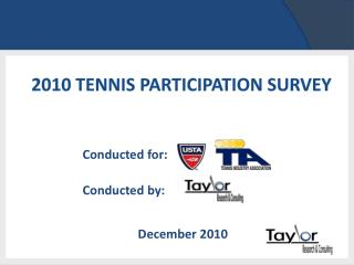 2010 Tennis Participation Survey