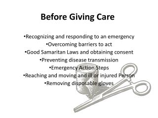 Before Giving Care