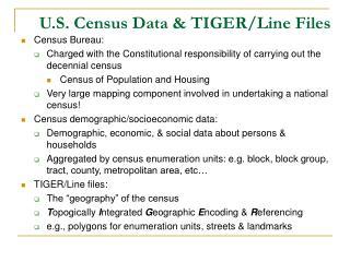 U.S. Census Data & TIGER/Line Files