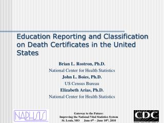Education  Reporting and  Classification on Death Certificates in the United States