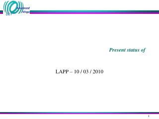 Present status of