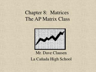 Chapter 8:  Matrices  The AP Matrix Class