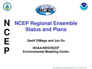 NCEP Regional Ensemble Status and Plans