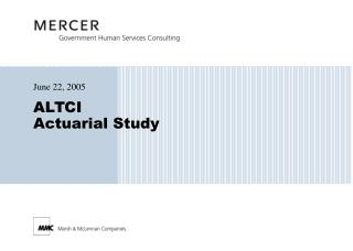 ALTCI Actuarial Study