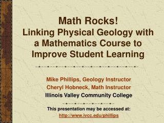 Math Rocks! Linking Physical Geology with a Mathematics Course to Improve Student Learning