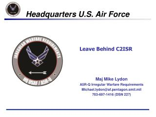 Leave Behind C2ISR