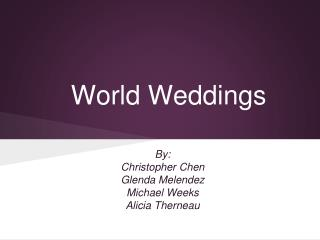 World Weddings