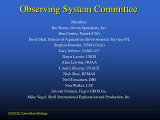 Observing System Committee