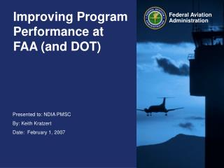 Improving Program Performance at FAA (and DOT)
