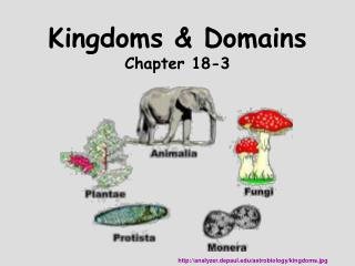 Kingdoms  Domains Chapter 18-3