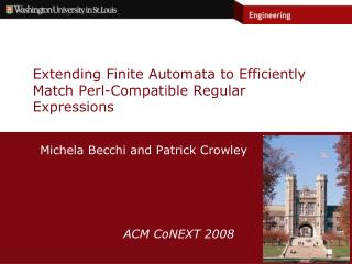 Extending Finite Automata to Efficiently Match Perl-Compatible Regular Expressions