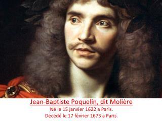 L'histoire de Molière