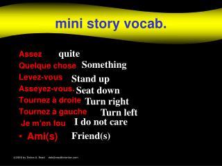 mini  story vocab.