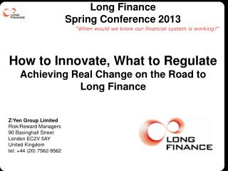 Long Finance  Spring  Conference 2013