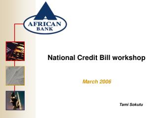 National Credit Bill workshop