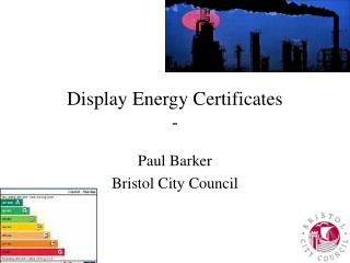 Display Energy Certificates -