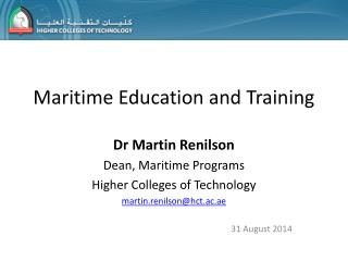 Maritime Education and Training