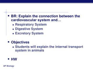 BR: Explain the connection between the cardiovascular system and… Respiratory System