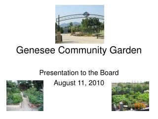 Genesee Community Garden