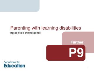 Parenting with learning disabilities
