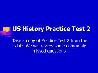 US History Practice Test 2