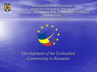 Development of the Evaluation Community in Romania