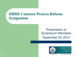 DHHS Contract Process Reform Symposium