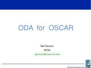 ODA  for  OSCAR