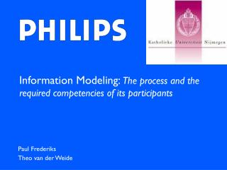 Information Modeling :  The process and the required competencies of its participants