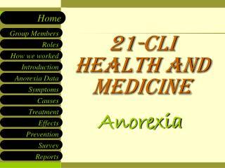 21-CLI Health and medicine