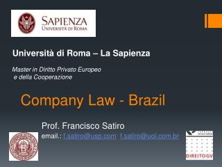 Company Law - Brazil