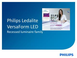 Philips Ledalite  VersaForm  LED  Recessed luminaire family