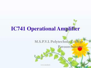 IC741 Operational Amplifier