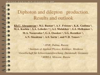 Diphoton and dilepton   production. Results and outlook