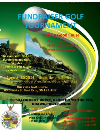 Fundraiser Golf Tournament