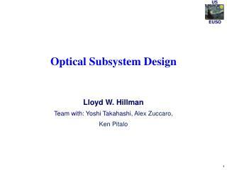 Optical Subsystem Design