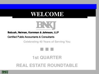 Babush, Neiman, Kornman & Johnson, LLP Certified Public Accountants & Consultants
