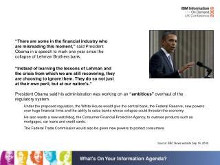 Source: BBC News website Sep 14, 2009