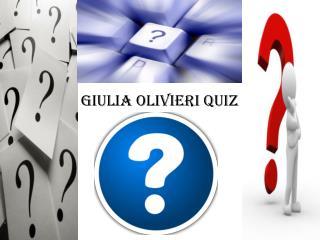 Giulia Olivieri Quiz