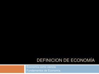 Expo economia como ciencia