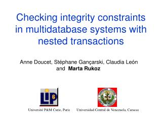 Checking integrity constraints in multidatabase systems with nested transactions