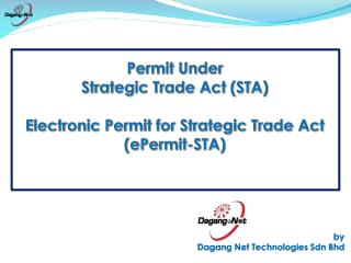 Permit Under  Strategic Trade Act STA  Electronic Permit for Strategic Trade Act ePermit-STA