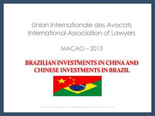 COMPARATIVE DATA (CHINA VS BRAZIL) 2012