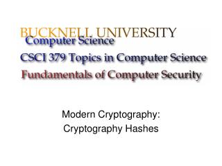 Modern Cryptography: Cryptography Hashes