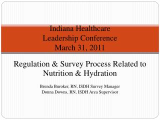 Indiana Healthcare Leadership Conference March 31, 2011